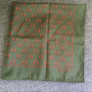 Vintage Gucci Classic Equestrian Pattern Scarf
